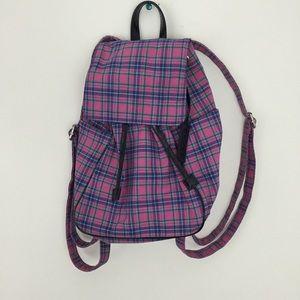 RALPH LAUREN Vintage Purple Plaid Mini Backpack